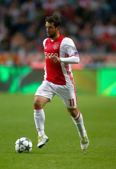 Amin Younes of Ajax in action during the UEFA Champions League Play-off 1st Leg…