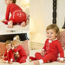 Newest 0-18M Newborn Kid Toddler Baby Boy Girl Long Sleeve Christmas Zipper Romper Jumpsuit Outfit Clothes(China (Mainland))