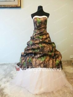 Wholesale and Retail Great A-line Sweetheart Floor-length Camo Wedding Dress