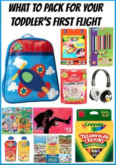 What to Pack for your Toddler's First Flight Toddler Airplane Activities, Kids Travel Activities, Airplane Kids, Airplane Travel, Infant Activities, Toddler Travel, Travel With Kids, Disney Vacations, Vacation Trips