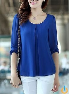 Shop Womens Fashion Tops, Blouses, T Shirts, Knitwear Online Blouse Styles, Blouse Designs, Hijab Stile, Sewing Blouses, Blouse Dress, Women's Summer Fashion, Hijab Fashion, Blouses For Women, Long Sleeve Tops