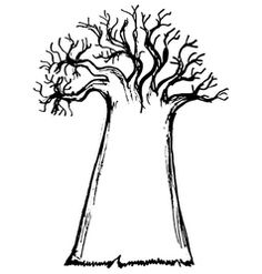 Baobab Tree Vector Images (over 2016 Tattoo, African Art Projects, Tree Drawing Simple, Cupcake Tattoos, Tree Outline, Twisted Tree, Baobab Tree, Easy Drawings, Illustration Art