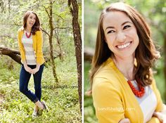 Adorable mustard yellow cardigan with grey and white stripes and skinnies. Casa de Lewis