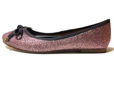 Sparkling Flat #vegan #shiny #flats #pinksparkle #veganshoes #liloencinas