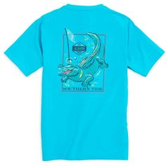 Southern Tide Predator Series Alligator T-Shirt in Turquoise