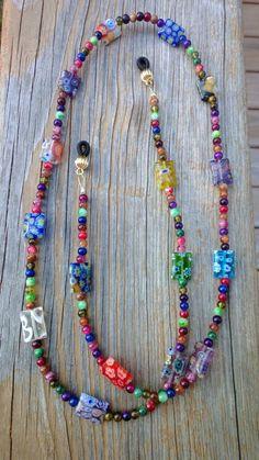 Eyeglass Chain Beaded Eyeglass Holder by MichelesAManoDesigns