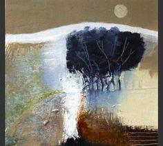 Anuk Naumann - Misty Morning Pastel Landscape, Abstract Landscape Painting, Landscape Paintings, Abstract Art, Landscape Drawings, Landscape Art, Tree Art, Art Techniques, Painting Inspiration