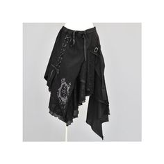 S-inc e-shop h.NAOTO h.NAOTO Blood/ゴシック Blood アシンメトリーゴススカート... ❤ liked on Polyvore featuring skirts, bottoms and naoto