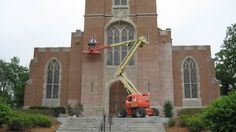 Restoring the masonry on Culver Academy's chapel #TriscoInAction