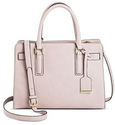 Women s Faux Leather Tote Handbag with Belted Crossbody Strap Handbag Taupe  - Merona dbb8ed67fda1c