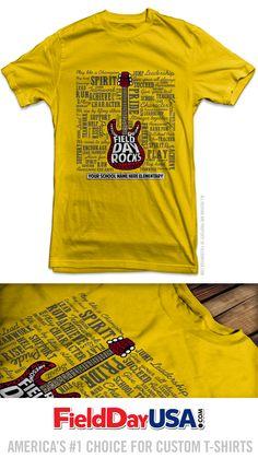 Field Day T-shirt FD16-07 School Spirit Wear, Field Day, School Decorations, Play Hard, School Teacher, Shirt Designs, Mens Tops, How To Wear, T Shirt