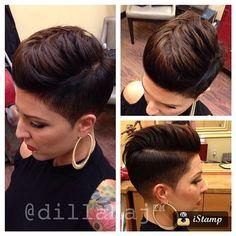 Little trim and fun style for @sandrasimm tonight :) #hair #haircut #hairstyle…