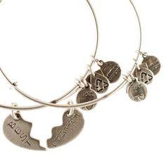 Best Friends Set Of 2 Charm Bangles American Heart Ociation Alex And Ani Friendshipfriendship Bracelets