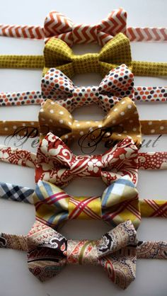 If you saw the suspenders I posted then you will LOVE to have Daddy and little man match with these  FALL Bow Tie  Cider Orchard Collection  by petitepeanut, $16.50