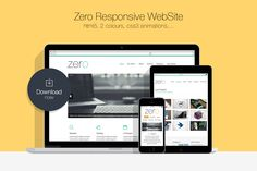Zero • Responsive HTML5 WebSite by Gthemes on Creative Market