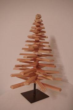 weihnachtsbaum aus holzlatten wohn design. Black Bedroom Furniture Sets. Home Design Ideas