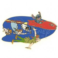 DISNEY PINS STITCH and PETER PAN LE 500