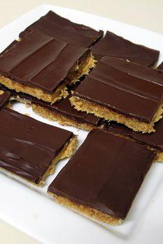 No Bake Chocolate Pretzel Peanut Butter Squares Recipe