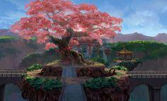 landscape environment concept art tree picture image digital art ...