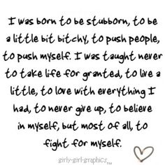 To fight for myself - cuz no one else will