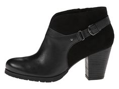 Clarks Mission Parker Black Leather/Black Suede - Zappos.com Free Shipping BOTH Ways