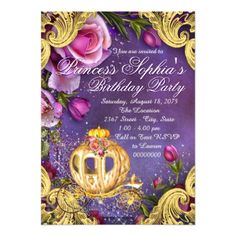 Fairy Tale Princess Birthday Party Invitations - party gifts gift ideas diy customize
