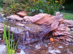Waterfall created by Ponds, Patios and Waterfalls Co. in Manchester, MD. #WaterfallWednesday