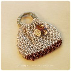 Make Your Own Mini Bag MO-001 by MimosaAtelier on Etsy (Craft Supplies & Tools, Patterns & Tutorials, pattern, beading, seed beads, bag, handmade)
