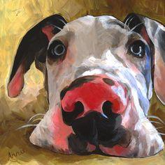 Herbie, Acrilic Portrait by Artist Annie Salness http://www.anniesalness.com/herbie.html