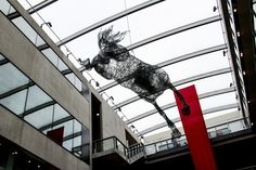 life size horses made out of chicken wire by artist Tessilda ( Tess Dumon) Martin S, Central Saint Martins, Royal College Of Art, Chicken Wire, Making Out, Sculpture Art, Saints, Louvre, Horses