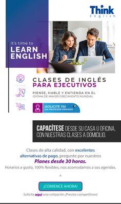 Clases de Inglés desde su casa u oficina, vía Skype o asista a nuestra sede. ¡En Think English nos acomodamos a su agenda! Skype, E-mail Marketing, English, Home, English Class, Professor, Day Planners, English English, English Language