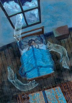 illustration print That night he dreamt he was a dog by pondpudding, Art And Illustration, Arte Van Gogh, Photo D Art, Grafik Design, Oeuvre D'art, Art Inspo, Art Reference, Illustrators, Fantasy Art