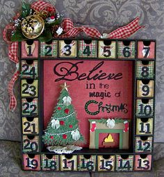 My Kaisercraft advent calendar, you can purchase these calendars at our stores.