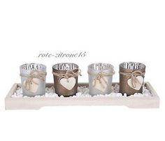 Advent Windlicht Set Kerzenhalter  Teelicht Dekoration Kerze Weihnachten Glas