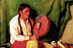 """""""Corn Song""""  Joseph Henry Sharp  Painting"""