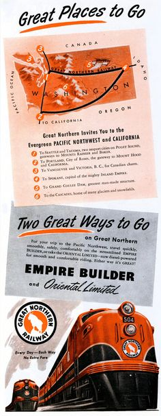 Great Northern's Explorer's Map  by paul.malon, via Flickr