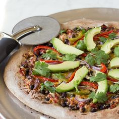Healthy Vegetarian Mexican Pizza.