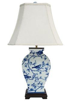 blue and white lamps. Blue And White Oriental Lamp Base With Shade. Lamps
