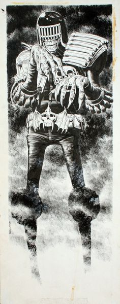 Judge Death Door Poster Original Art Comic Art