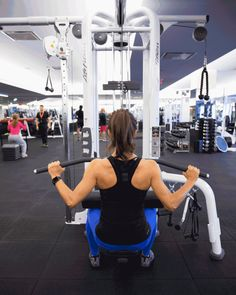 2. Lat Pull-Down  #fitness http://greatist.com/move/best-gym-machines