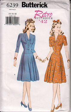 This is an older reprint that I stumbled upon in eBay a while ago. I had put off making it because the center front pleats allow for no above-waist adjustments. Being high waisted, I didn't think...