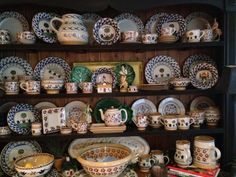 My collection of Nicholas Mosse pottery .