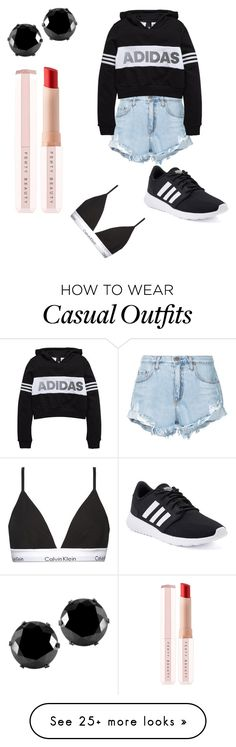 """Casual athletic"" by woofa2006 on Polyvore featuring Nobody Denim, adidas, West Coast Jewelry, Puma and Calvin Klein"