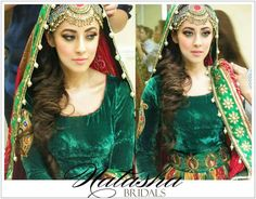 Ainy Jaffri's traditional mehndi look.. makeup by Natasha Salon