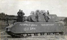 The only surviving example of the Maus tank is seen here during preparations for transport to Moscow as a war prize. It is on display today at the Kubinka Tank Museum