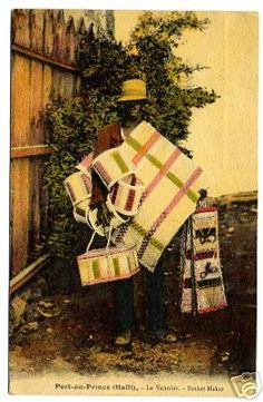 Basket maker, 1922. Haiti Tools and Resources - Vintage Pictures