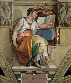Michelangelo, Sistine Chapel Ceiling, Sybils Erithraea | Flickr - Photo Sharing!
