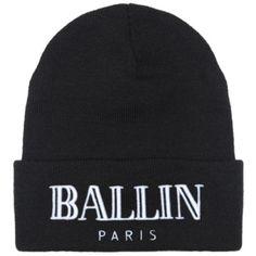 Brian Lichtenberg Ballin Beanie featuring polyvore, fashion, accessories, hats, brian, women, embroidered hats, embroidered beanie hats, acrylic beanie hat, embroidery hats and beanie hats