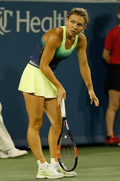 The Most Brutal Attacking Tennis by Simona Halep vs Jelena Jankovic | Cincinnati 2015 Highlights Simona Halep, Tennis Players, Asd, Cincinnati, Athletes, V Neck T Shirt, Highlights, Black, Women