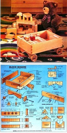 Wooden Toy Wagon Plans - Children's Wooden Toy Plans and Projects | WoodArchivist.com